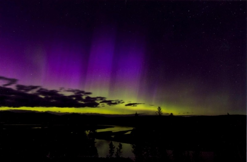 Landscape 2nd Place - Auroras Over Hayden Valley - Kristine Branstetter