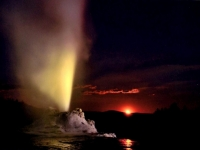 Landscape 1st Place - Moonrise Castle Geyser - Tim Dicke