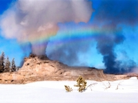 Scenic 1st Place - Jake Frank - Castle Geyser Eruption & Rainbow