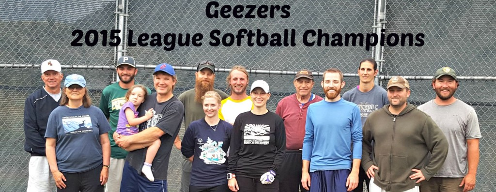 2015 PW Softball Champs -- Geezers