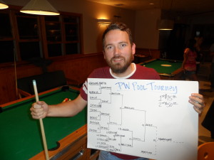 Martin Brewer's easy going attitude and sharp shooting game took him to First Place.