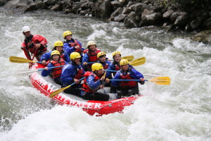 Whitewater Rafting trips down the Gallatin (pictured here) and the Yellowstone rivers make for an exciting day.