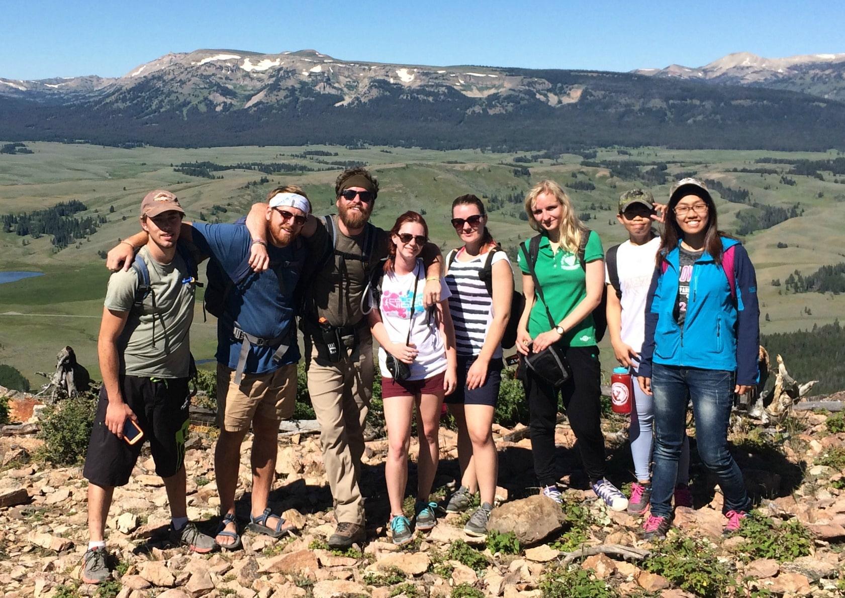 YCERP led group hikes, like this summit of Bunsen Peak, help Hiking Club members reach 100 miles.