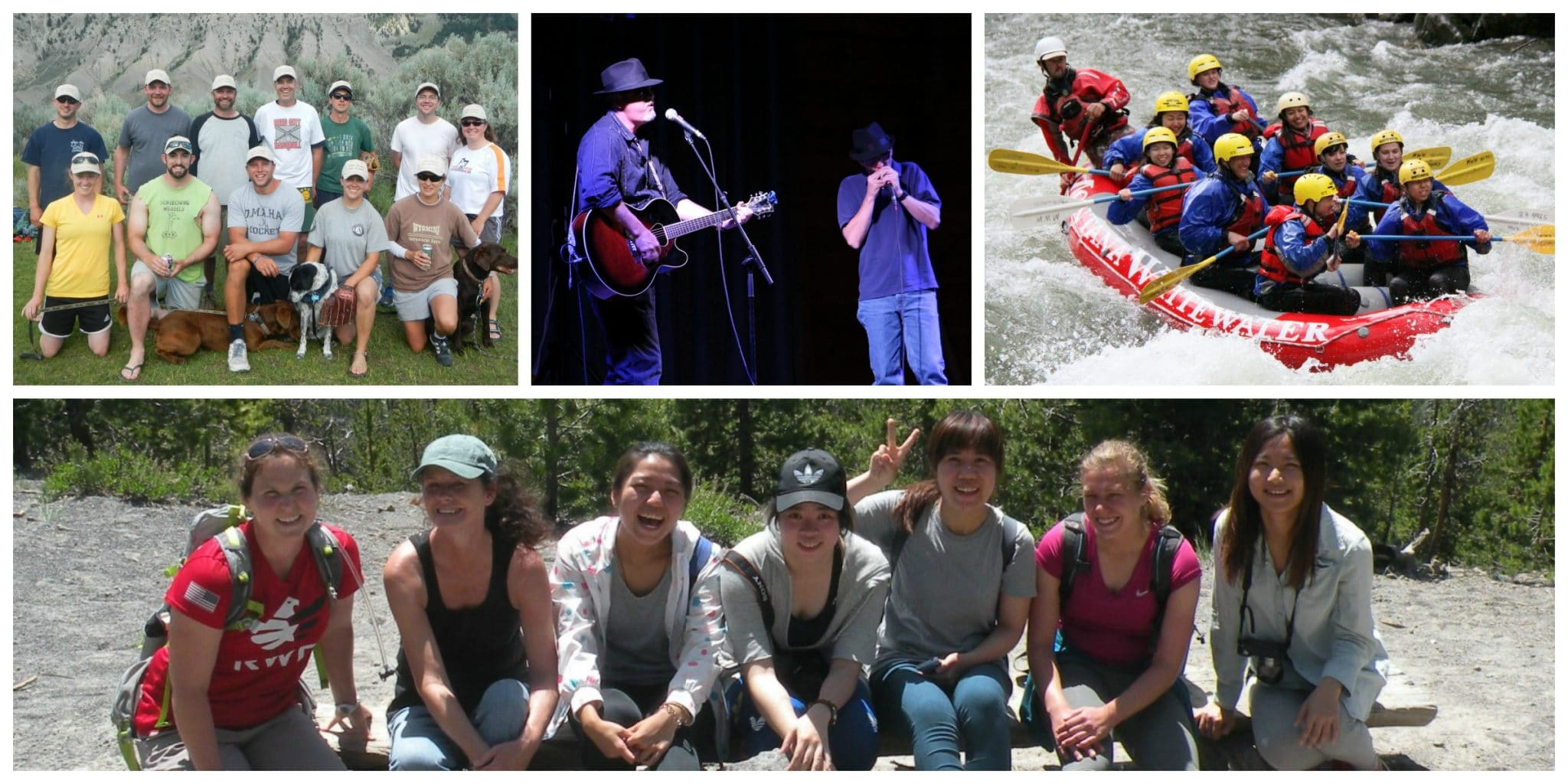 Whether it's playing on a softball team, rockin' the blues in a talent show, whitewater rafting, or joining an interpretive hike, Yellowstone employees enjoy YCERP to the fullest.