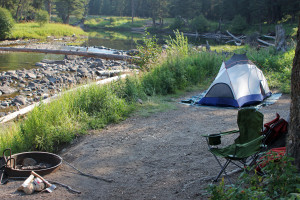 Front Country campgrounds like this site at Slough Creek merge the beauty of the park with some comforts of home. Photo by NPS.