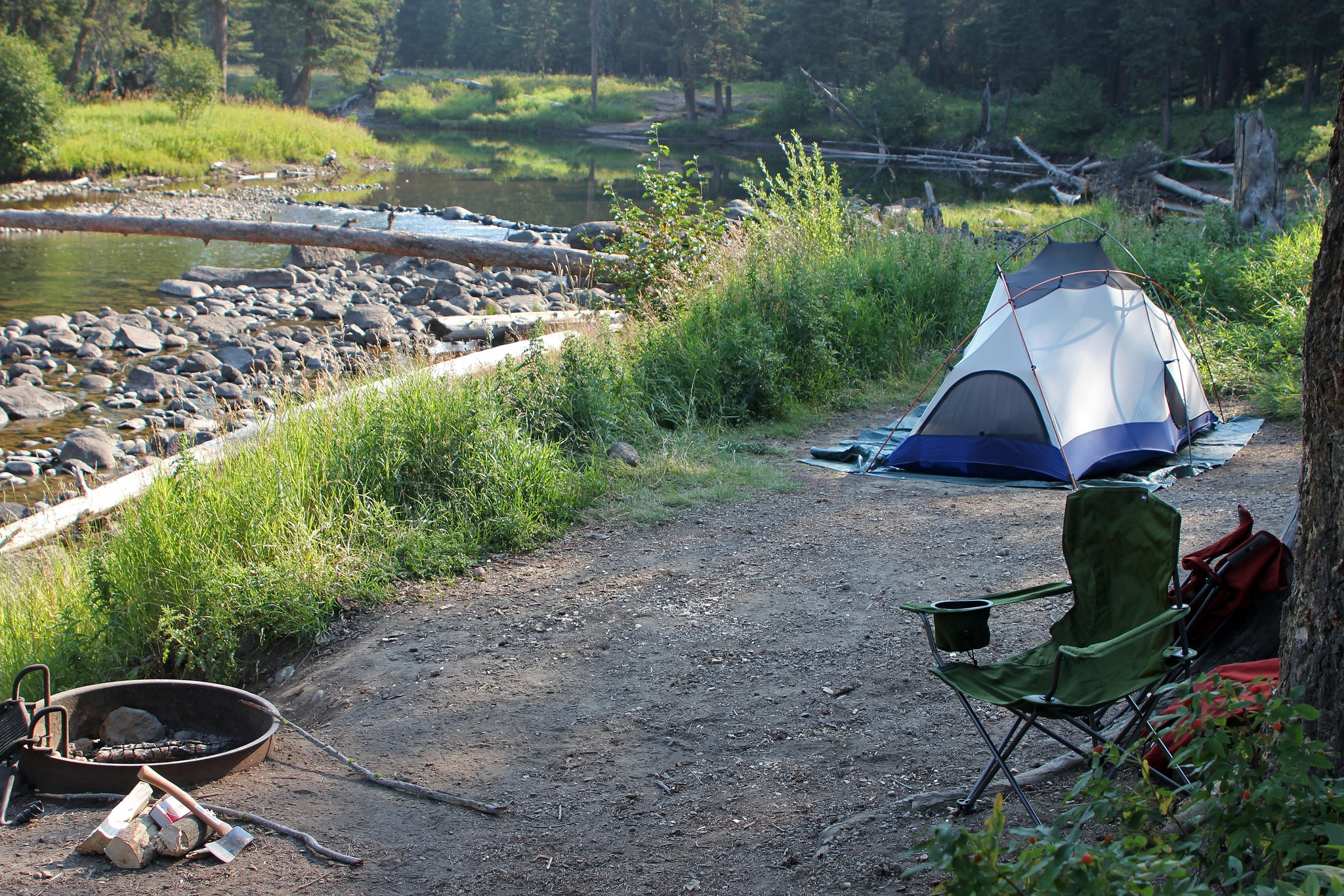 Front Country Campgrounds Like This Site At Slough Creek Merge The Beauty Of Park With