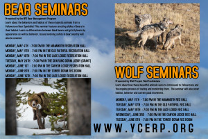 Bear Seminars are hosted at six park locations. Click here to see seminar dates and times.