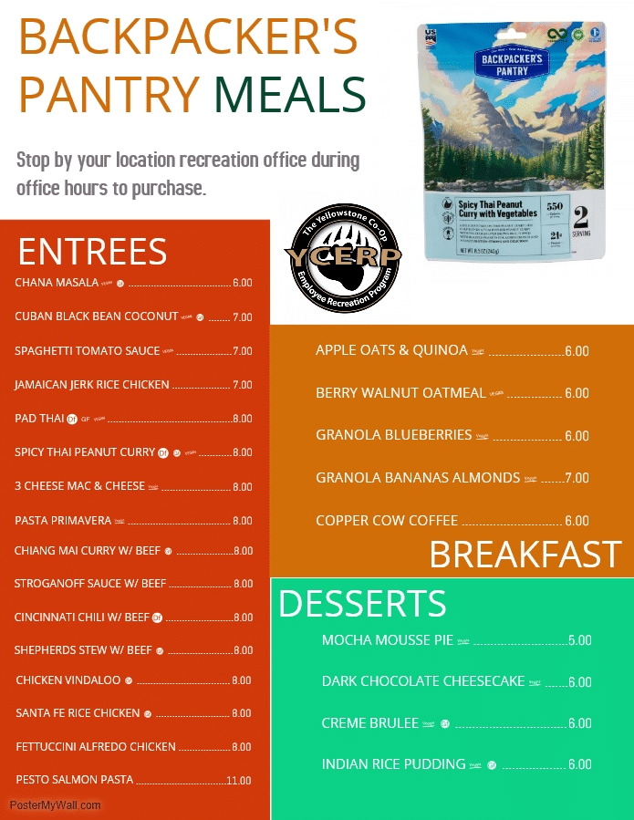 Backpacker's Pantry Prices